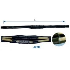 З'єднувальна термоусаджувальна муфта J4TH для чотирижильного алюмінієвого або мідного кабелю у полімерній ізоляції (з ПВХ, поліетилену або зшитого поліетилену).