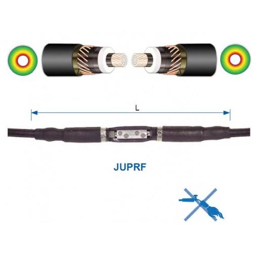 З'єднувальна муфта холодної усадки JUPRF для одножильного кабелю у полімерній ізоляції.