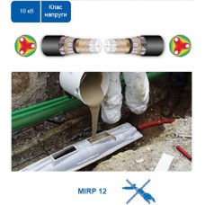 З'єднувальна заливна муфта MIRP 12 для кабелю з паперовою ізоляцією зі спільним екраном.