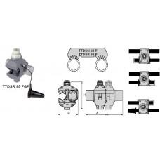 TTDSR ... З'єднувальний проколюючий затискач для сухих кабелів в ізоляції до 1000В