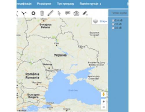 Онлайн САПР для проектування ЛЕП на Google Maps